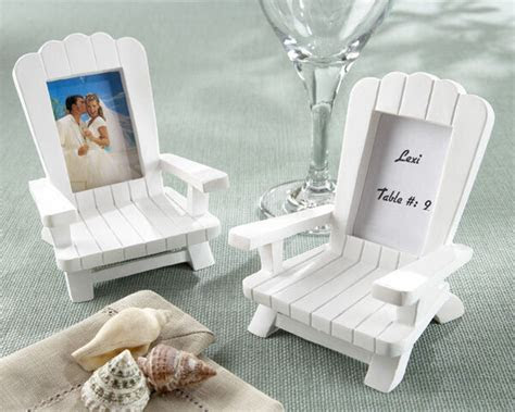 beach theme mini adirondack chair wedding place card
