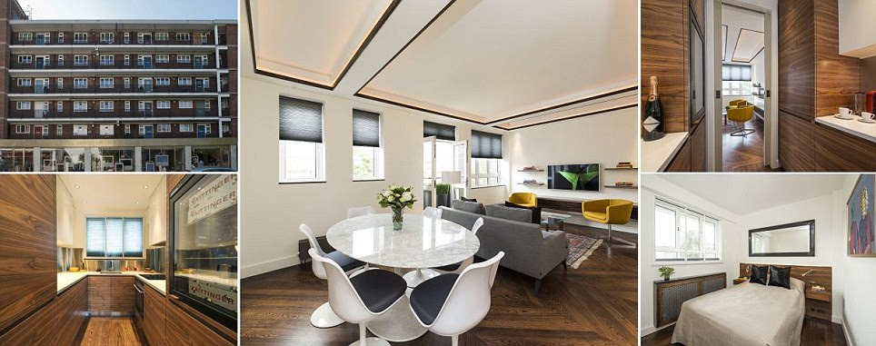 Britain's first £1MILLION council home: Tiny two-bedroom ex-local authority flat in London