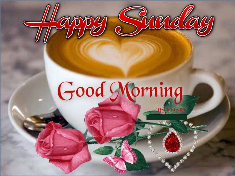 Happy Sunday Good Morning Coffee Heart Quote Pictures Photos And