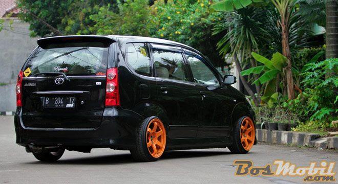 Modifikasi Toyota Avanza Hitam Velg Orange Modif Mobil