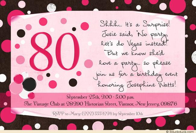 templates editable 80th birthday
