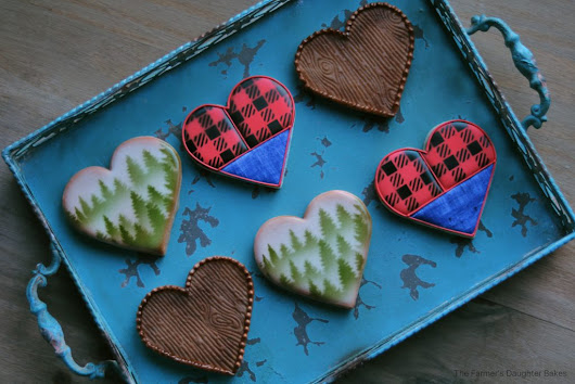 Lumberjack Valentine's Day Cookies - The Farmers Daughter Bakes