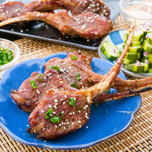 Grilled Korean Kalbi Lamb Chops | Slap Yo' Daddy BBQ