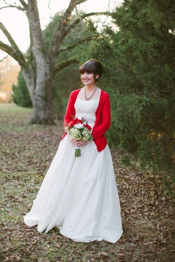 eine heiße rote Strickjacke für winter-oder Weihnachts-Braut ist gute Idee, Sie zu umarmen die Saison