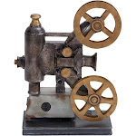 """Vintage Reflections Rustic Iron Movie Projector and Film Reels (14"""") - Olivia & May"""