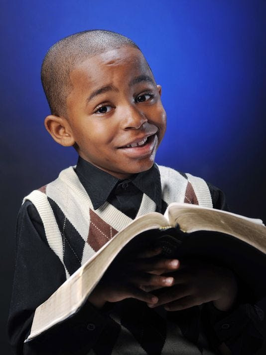 Samuel Green is only 7 years old, but is preaching God's love!