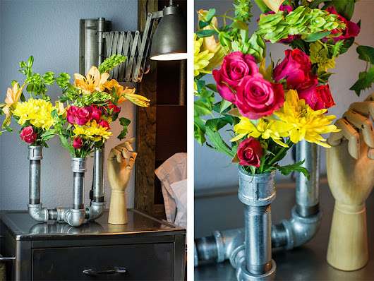 Home Improvement DIY - Make a Custom Flower Vase With Your Galvanized Pipe