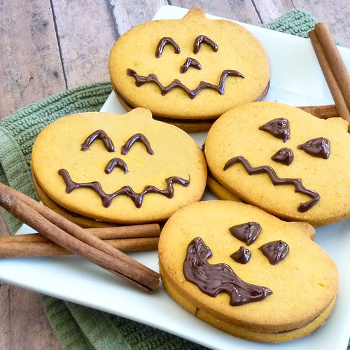 Spiced Pumpkin Sandwich Cookies - Take 2