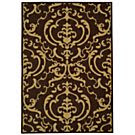 """MANUFACTURER'S CLOSEOUT! Safavieh Area Rug, Courtyard Indoor/Outdoor CY2663-3409 Chocolate/Natural 2' 7"""" x 5'"""