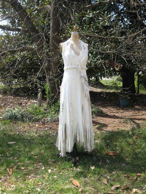 White Leather Wedding Dress Native American By Hippiebride