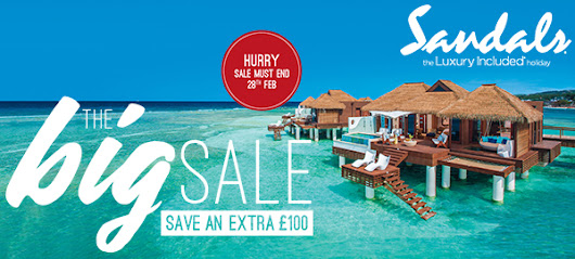 Book by 28 Feb and SAVE an extra £100 per booking with Sandals