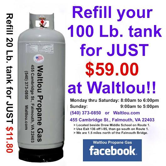 Waltlou Propane Gas Stafford Fredericksburg Va 540 373 0850 Low Cost