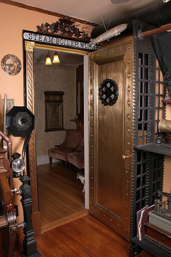 Design Styles, Decorating Ideas | 28 Crazy Steampunk Home Office Designs