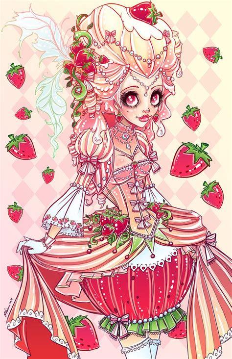 strawberries  cream  noflutter  deviantart cute
