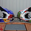 Custom Troy Lee Designs D3 Lids for Semanuk and Zink's Trip to Red Bull Rampage | News | mountain-bike-action