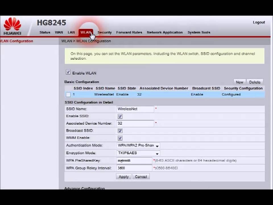 Cara Mengatur WiFi HUAWEI HG8245 - Sanlus Programmer