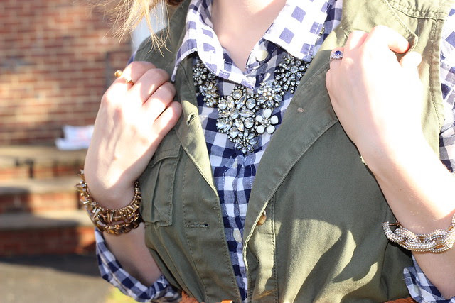 Gingham and vest 1