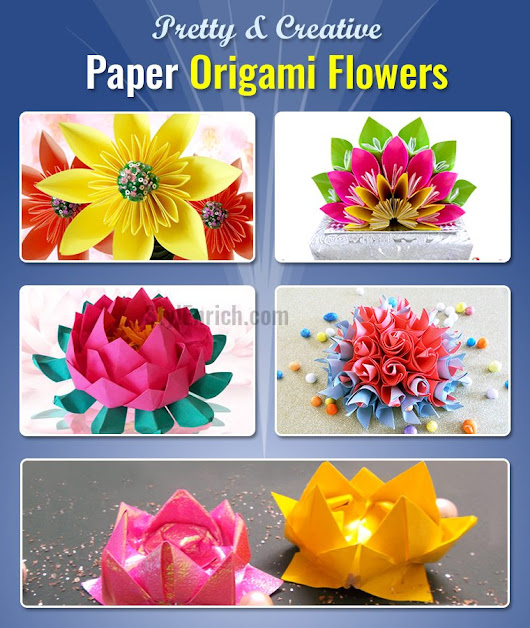 Easy Origami Flowers : 5 Pretty & Creative DIY Projects!