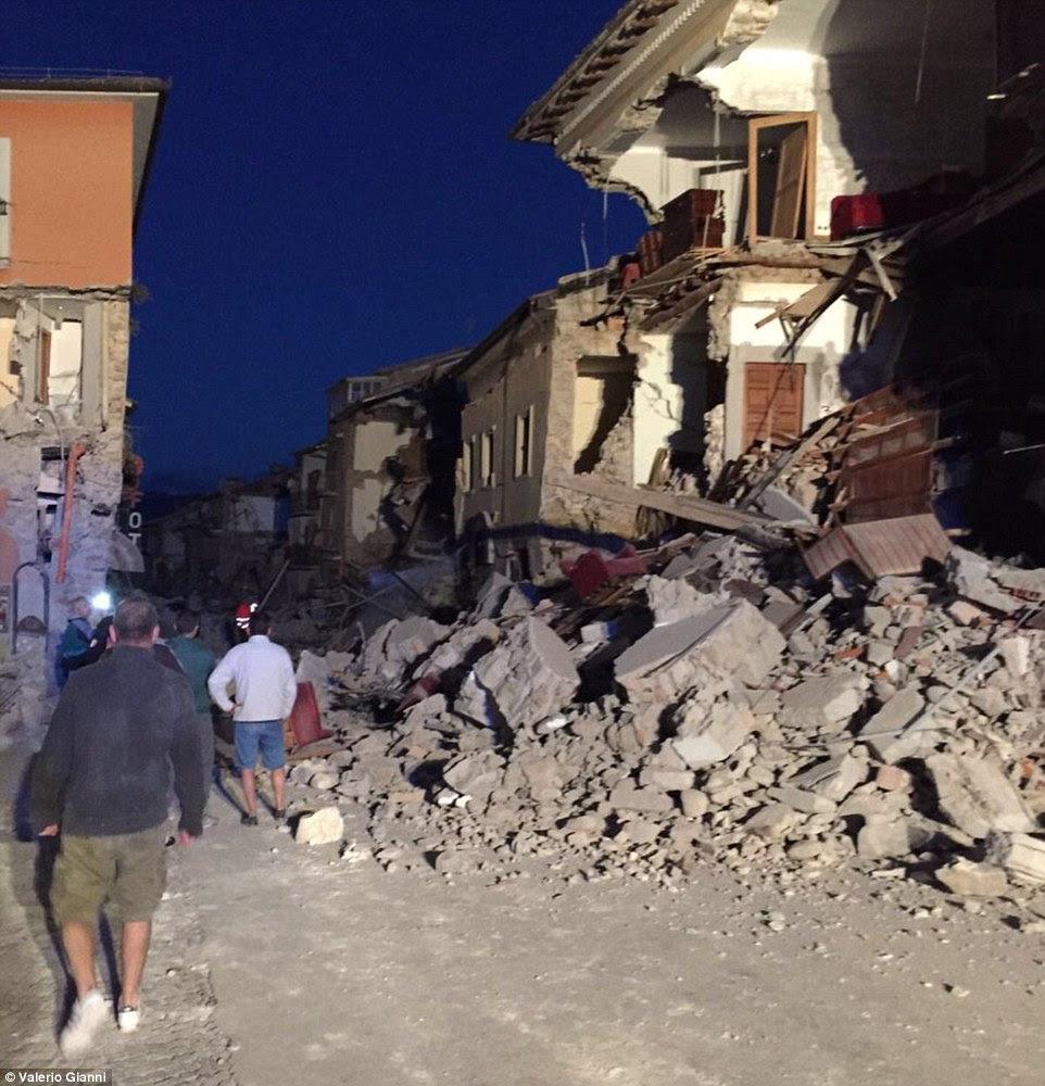 As pessoas podem ter morrido na pequena cidade, rústico de Amatrice (foto) - que fica perto do epicentro do terremoto