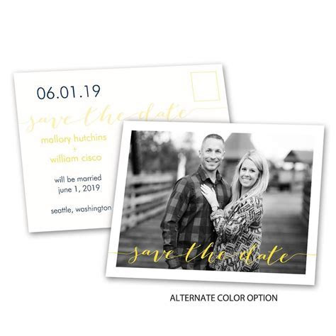 Photo Feature Save the Date Postcard   Ann's Bridal Bargains