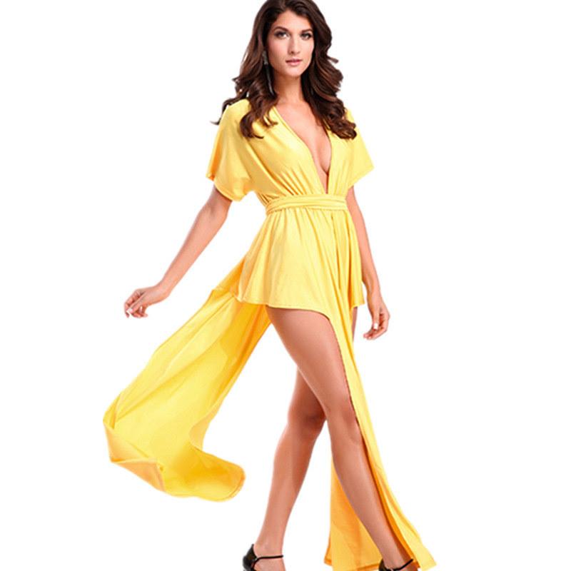 Free Spaghetti Strap V Neck High Slit Embroidery Sleeveless Maxi Dresses560Luvyle IncLV women manufacturer