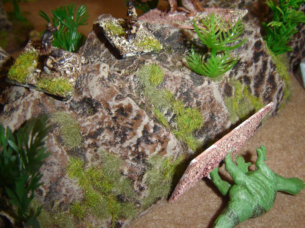 American snipe from top of ridge bringing down Iguanadon