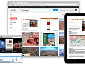 Google Drive no Mac, em um navegador e em um tablet com Android (Foto: Divulgação)