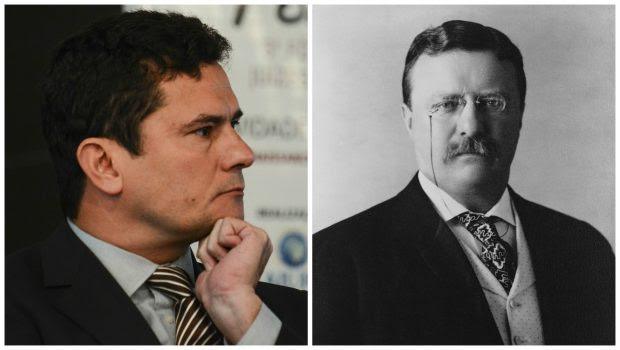 Sérgio Moro e Theodore Roosevelt (à dir.). Foto: Agência Brasil e Wikipédia
