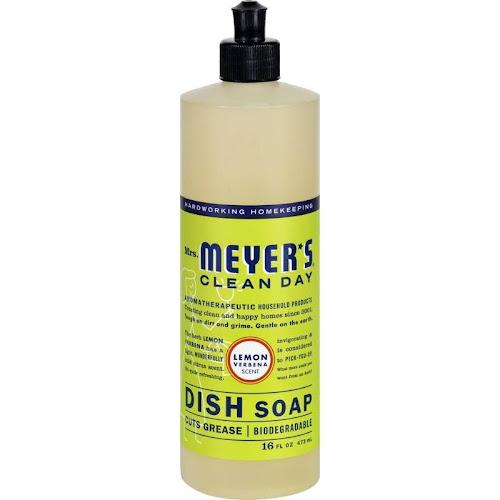 Mrs. Meyer's Clean Day Liquid Dish Soap, Lemon - 16 fl oz bottle