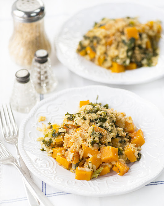 A Dash of Compassion  » Easy butternut squash & kale risotto with cheesy almond parmesan