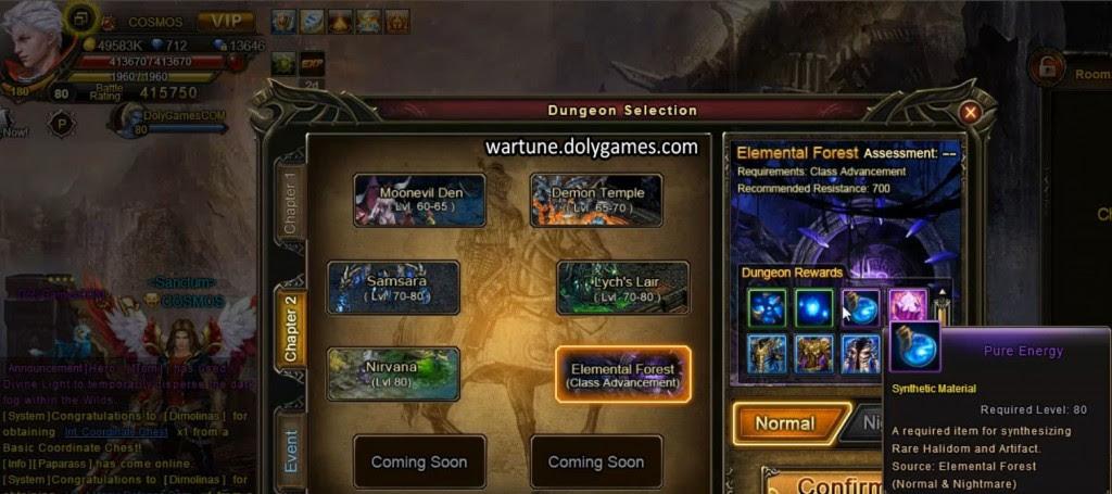 Elemental Forest Patch 4.0 - dungeon