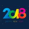 salma akter - 2018 Happy New Year Christmas artwork
