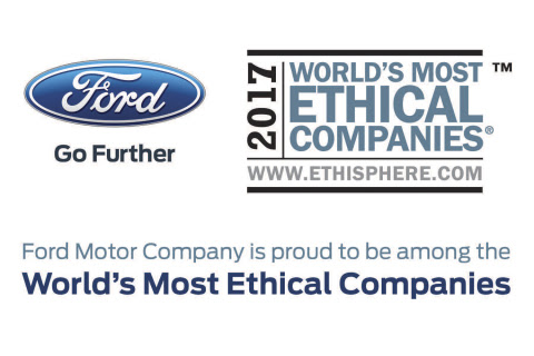 Corporate Responsibility Puts Ford Among World's Most Ethical Companies for Eighth Straight Year