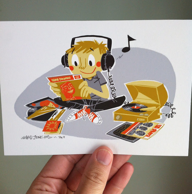 Etsy Update: Vinyl Kid print