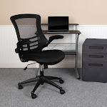 Swivel Task Chair with Mesh Padded Seat Black - Flash Furniture