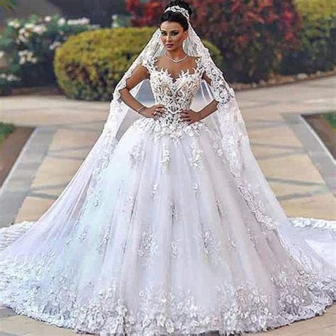 Ornate wedding dresses with tons of beaded lace and