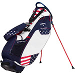 Callaway Golf Hyper-Lite 3 USA Double Strap Stand Bag, Red/White/Blue