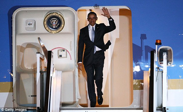 Mr Obama delivered his dramatic message during a four-day visit to the UK which also saw him play golf with Mr Cameron