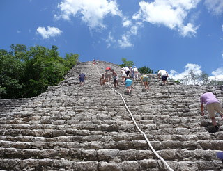 Climb_Mayan Temple_Coba_Mexico_Sep12