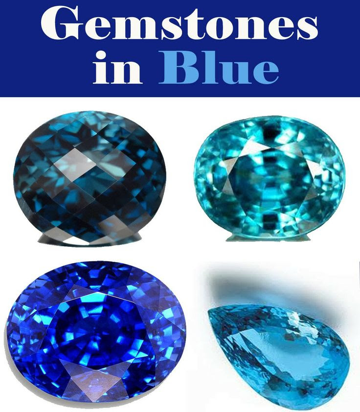 gemstones in blue