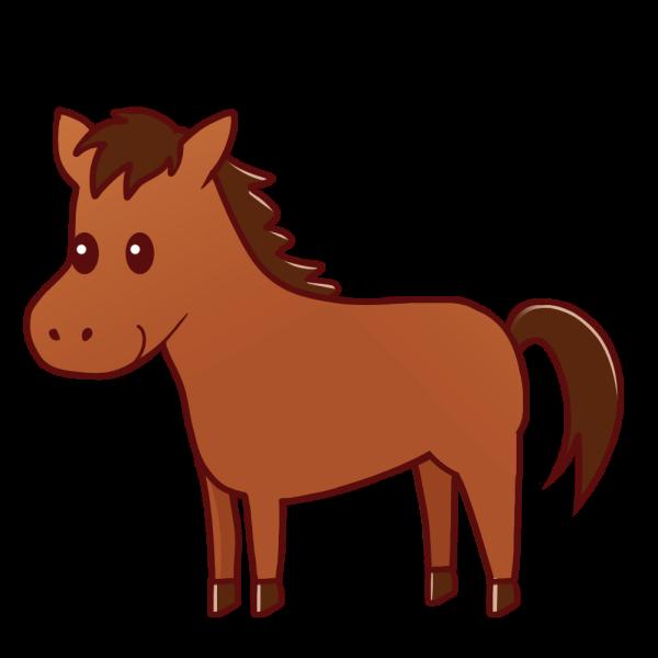 馬のイラスト かわいいフリー素材が無料のイラストレイン