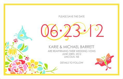 Save the Date Wording Examples for Vow Renewals ? I Do Still!