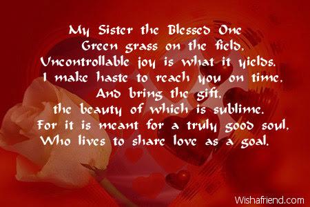 Sister Birthday Poems
