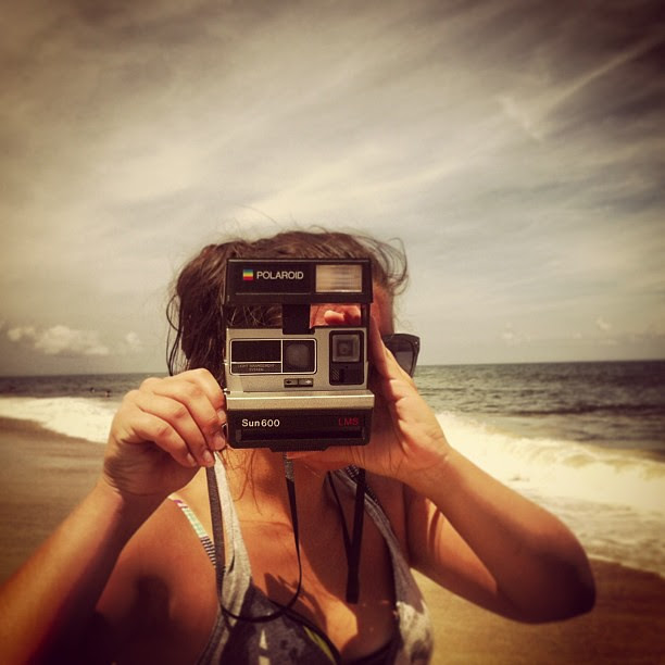 Polaroids at the beach!  #photooftheday #henselvaca2013