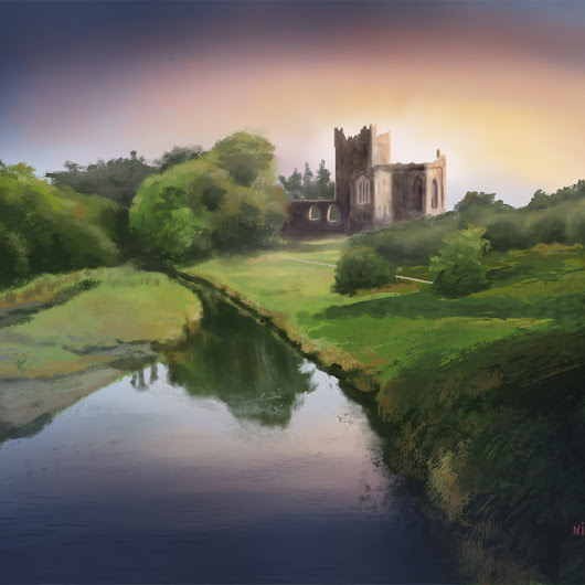 Tintern Abbey, Nico de Digital Painting Tutorial