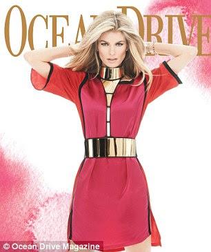 Cover Girl: A loira é usado para aparecer em capas de revistas como Sports Illustrated e da Ocean Drive