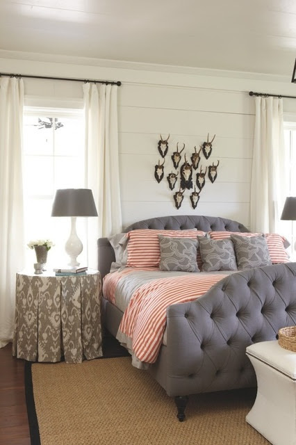 coral and gray | love the table