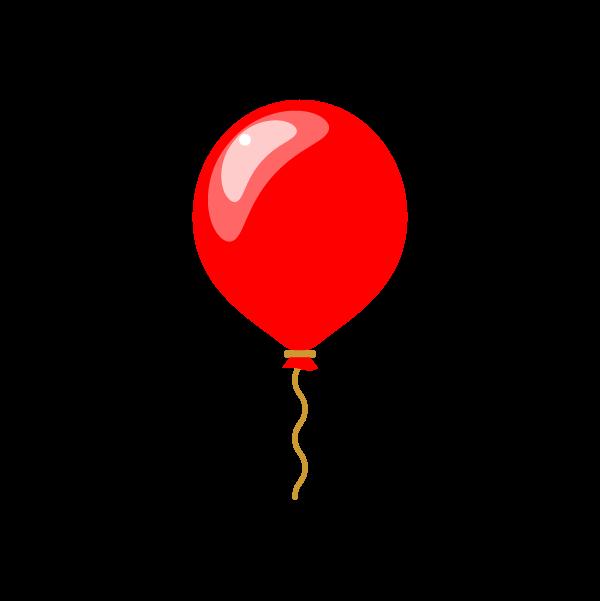 縁無しでかわいい風船の無料イラスト 商用フリー オイデ43