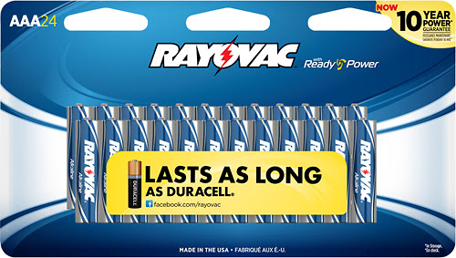 Rayovac - AAA Batteries (24-Pack) - Silver/Blue - Larger Front