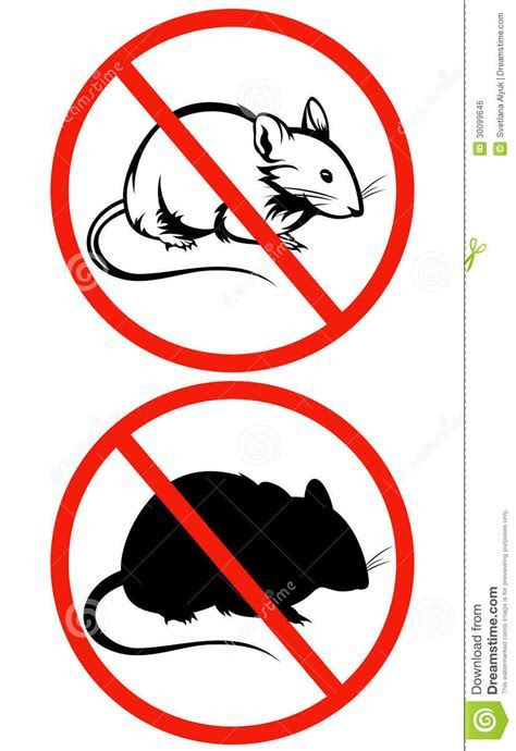 No Rodents Vector Sign Royalty Free Stock Image   Image: 30099646